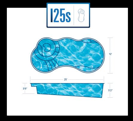 fiberglass pool with spa I25s