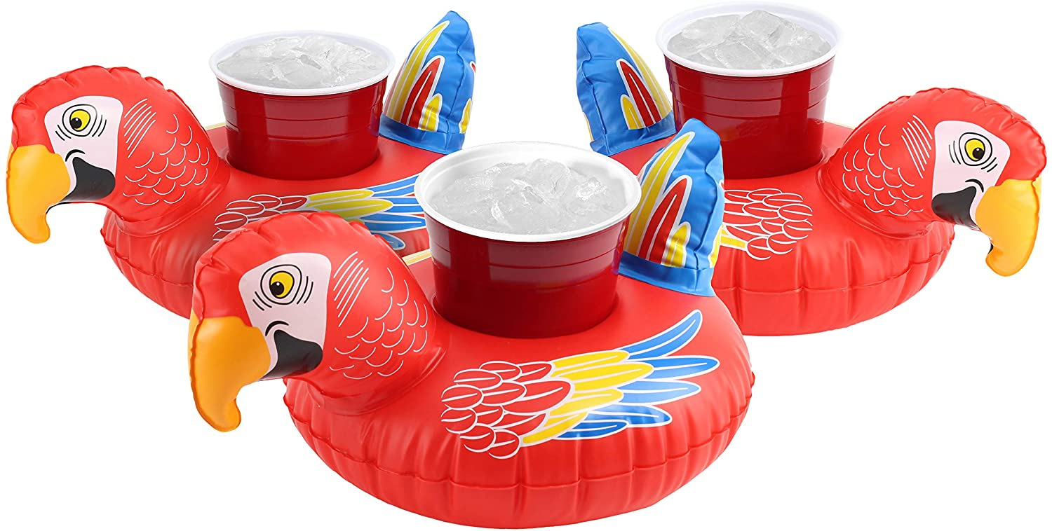 inflatable-pool-drink-holders-float-parrots