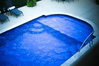 Roman end fiberglass pool