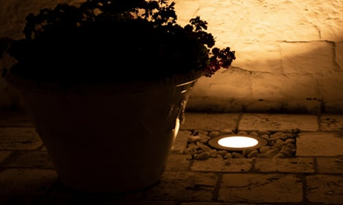 Well light used for pool landscape lighting