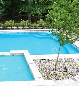 poolside tree for a G36 fiberglass pool