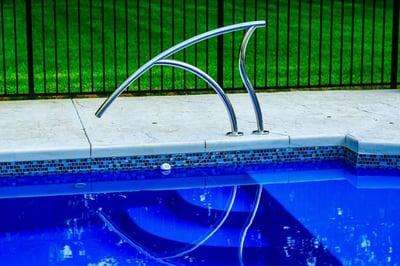 waterline tile on L36 fiberglass pool