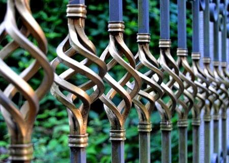 Metal pool fence ideas - iron pool fence