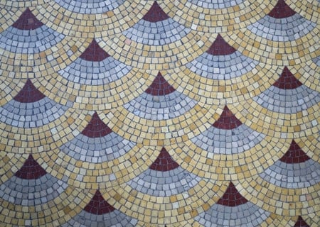 mosaic concrete wall for pool