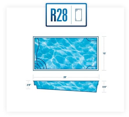 R28 fiberglass swimming pool