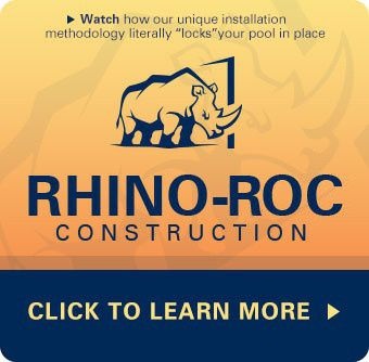 Rhino-Loc construction for fiberglass pools