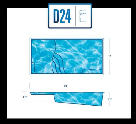 Riverpool D24 fiberglass pool
