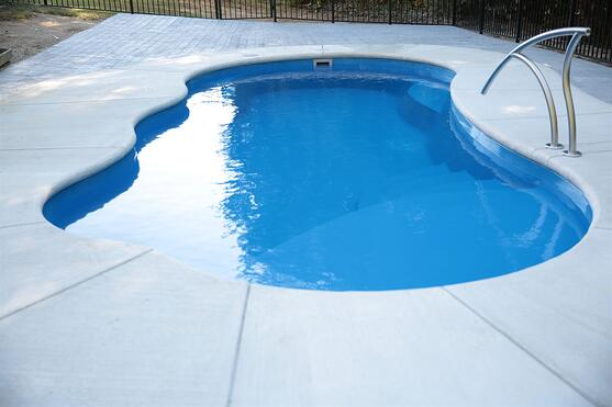 Inground fiberglass pool