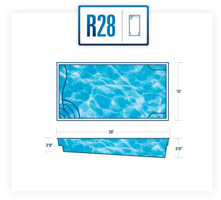 Riverpool R28 fiberglass pool