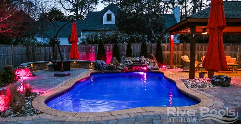 freeform Oasis fiberglass pool