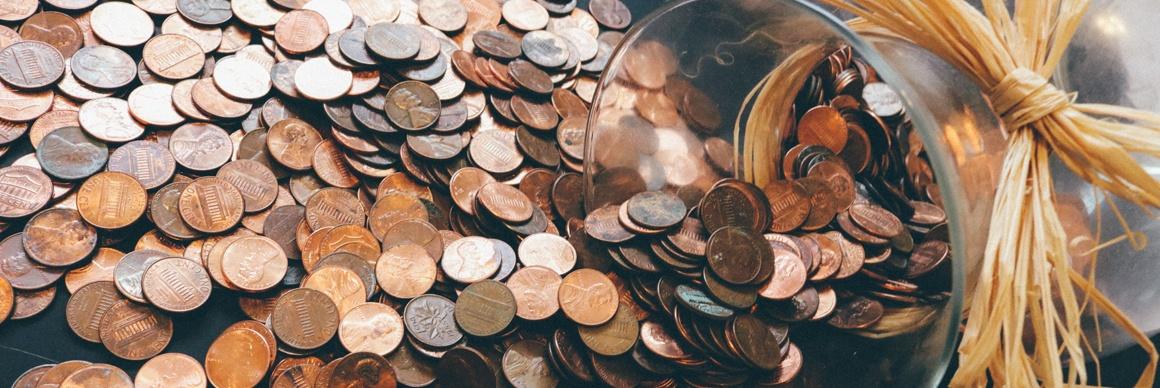 penny-jar-spilled