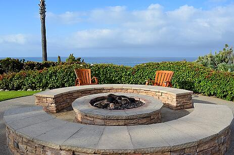 fire pit for pool