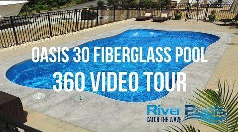 oasis freeform fiberglass pool