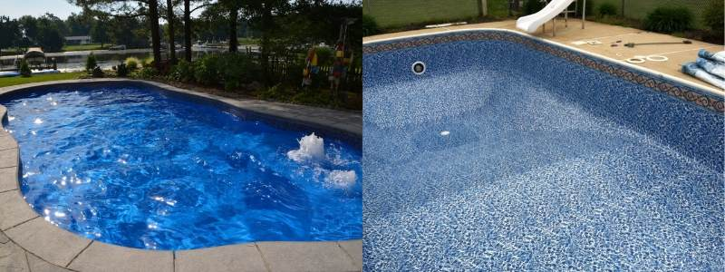 vinyl liner vs fiberglass swimming pools